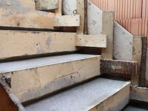 Treppe betoniert