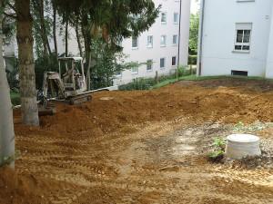 Vorbereiten der Baufläche
