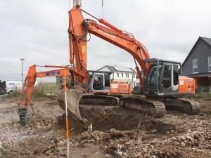Ausheben der Baugrube
