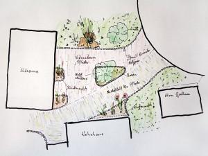 Entwurf für Außenanlagen