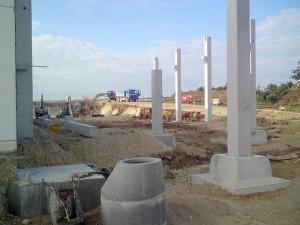 Säulengründung zu Beginn